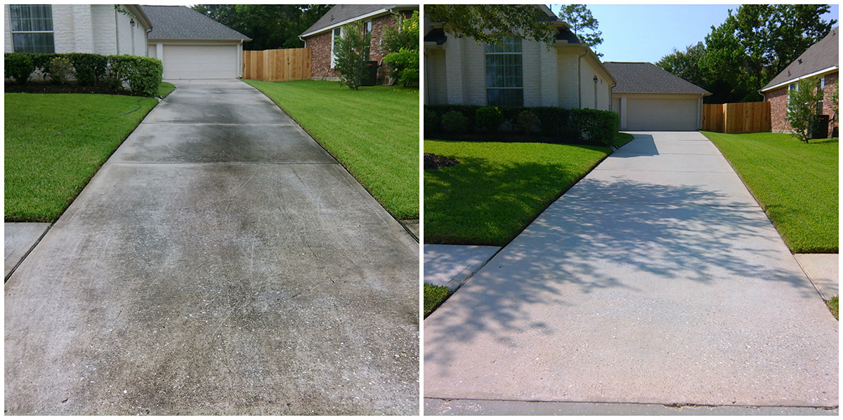 Concrete Cleaning Icu Power Washing The Woodlands Tx
